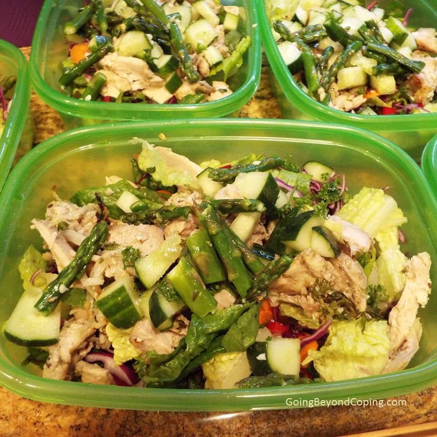 Healthy Mediterranean Chicken Salad Meal Prep