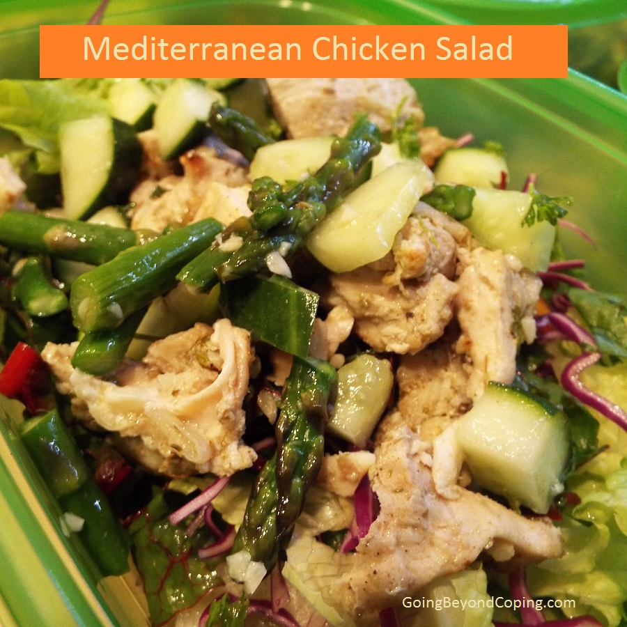 Meal prep chicken salad